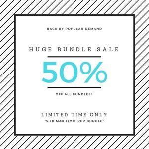 50% off 2 or more items!